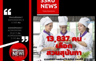 """นักเรียน 13,837 คนเลือก """"สวนสุนันทา"""" จากการรับสมัคร #TCAS64 รอบ 3 Admission 1 และ Admission 2"""